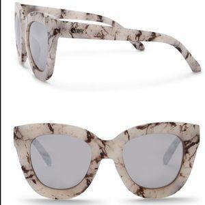 Quay reflective marble sunglasses